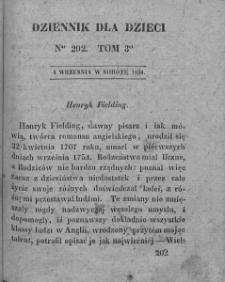 Dziennik dla Dzieci. 1830. T. 3. Nr 202