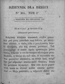 Dziennik dla Dzieci. 1830. T. 3. Nr 205
