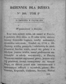 Dziennik dla Dzieci. 1830. T. 3. Nr 206