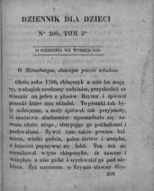 Dziennik dla Dzieci. 1830. T. 3. Nr 209