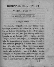 Dziennik dla Dzieci. 1830. T. 3. Nr 210