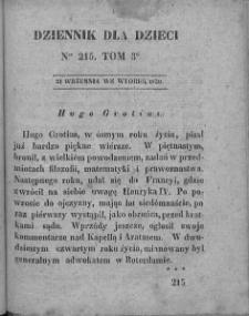 Dziennik dla Dzieci. 1830. T. 3. Nr 215