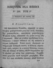 Dziennik dla Dzieci. 1830. T. 3. Nr 216