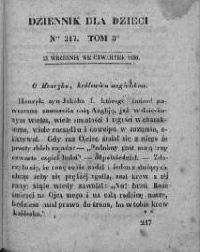 Dziennik dla Dzieci. 1830. T. 3. Nr 217