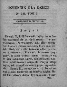 Dziennik dla Dzieci. 1830. T. 3. Nr 218
