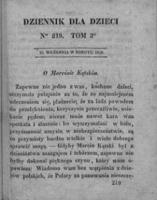 Dziennik dla Dzieci. 1830. T. 3. Nr 219