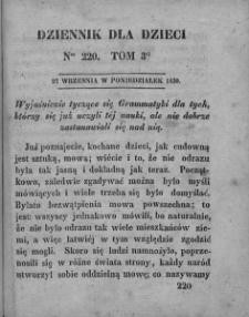 Dziennik dla Dzieci. 1830. T. 3. Nr 220