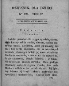 Dziennik dla Dzieci. 1830. T. 3. Nr 221