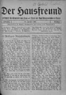 Der Hausfreund 13 styczeń 1924 nr 2