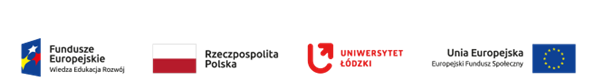 Fundusze Europejskie Wiedza Edukacja Rozwój, Rzeczpospolita Polska, Uniwersytet Łódzki, Unia Europejska Europejski Fundusz Społeczny